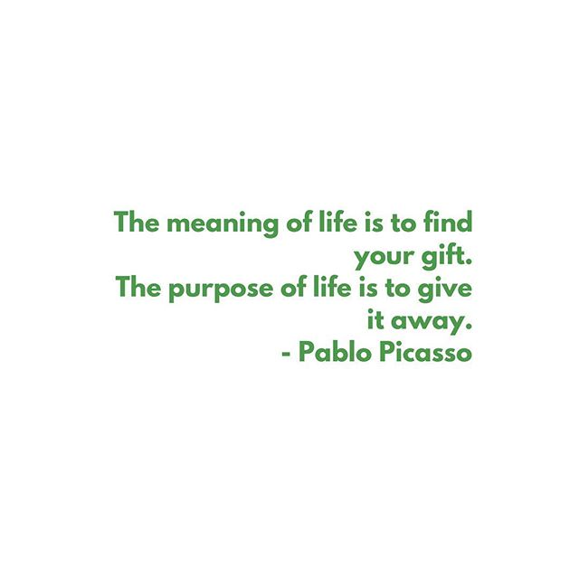 We all have gifts to share with the world. What are yours? #serveothers #durgatree #loveinaction #inspirationalquotes #bethechange #freedom #empowerment #instagood #pablopicasso #foodforthought #nonprofit #volunteer #socialactivism #quotes
