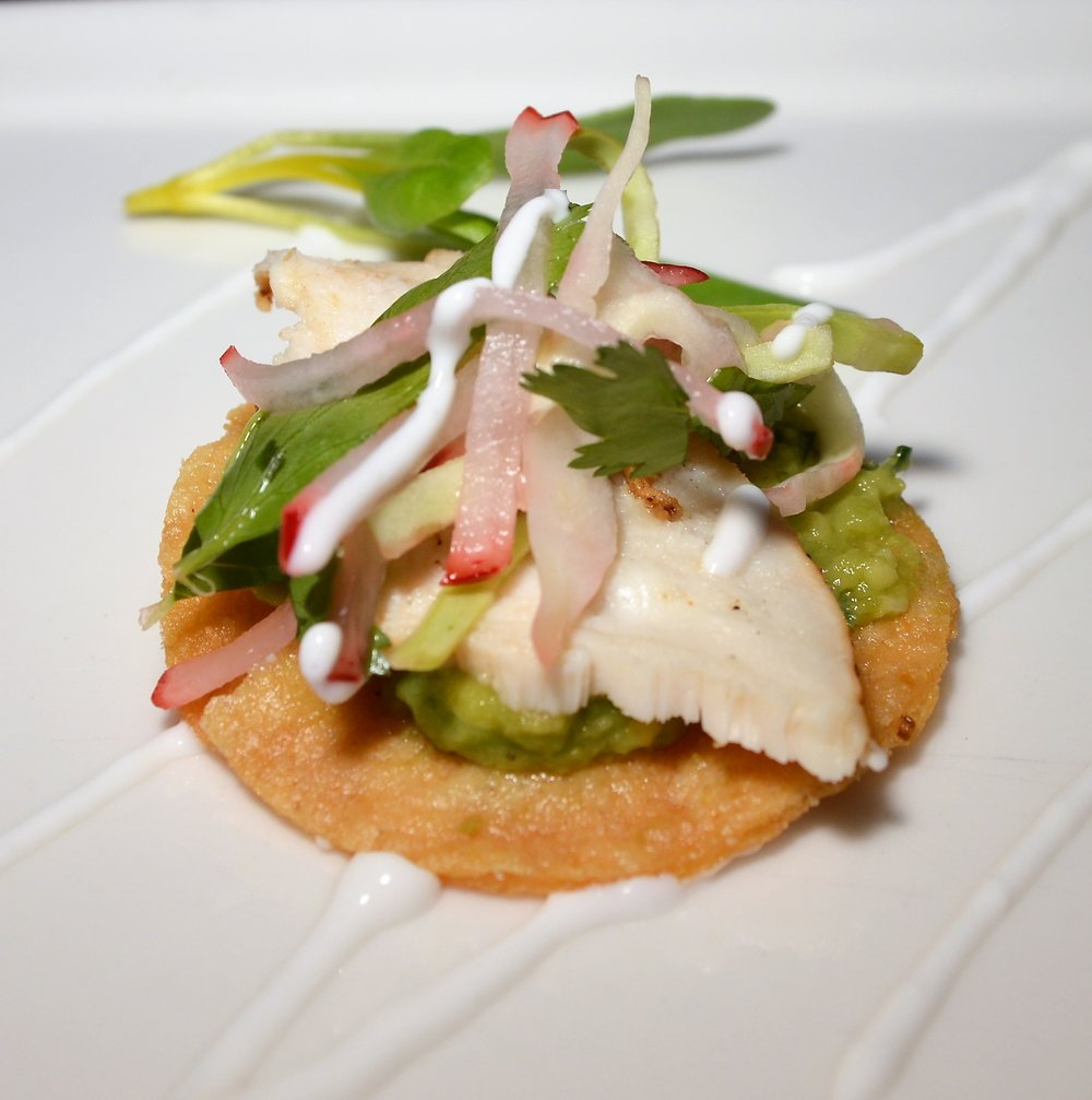 Lime Chicken Tostada