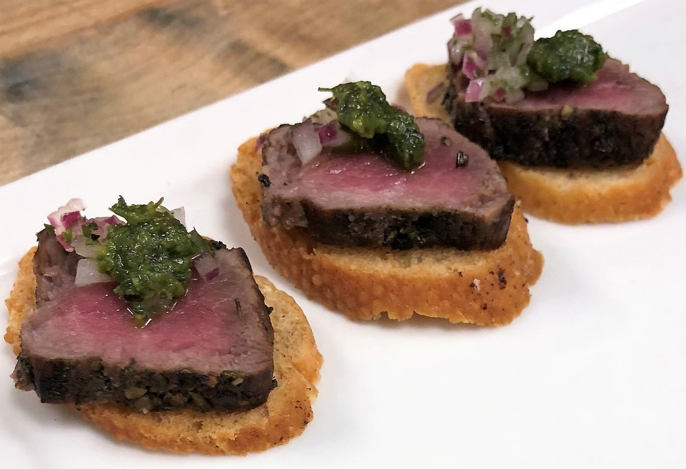 Lamb Filet with Pistachio Pesto