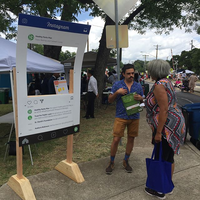 Happy Juneteenth! We had a great time at Austin's Juneteenth Parade and Celebration! Many community members voiced the need for more programming and safety features in their parks, and many already love playing sports and walking in their neighborhood parks! #juneteenth #healthyparksplan #activeliving