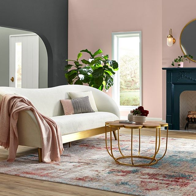 Get inspired by the everyday color collection from #shermanwilliams  #lovepink #pinkandgray #livingroom #newroomdecor #colorconsultant #paintingmyroom #homedecor #happymonday #designtosell #lovewhatyoudo #designer #realestate #stagedtosell #homegoals #ilovemyinterior #hgtv #dreamhome #design #inspire #love