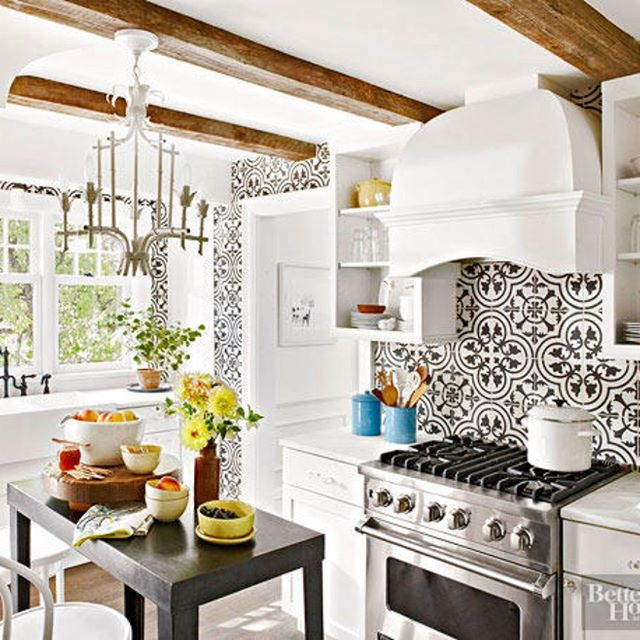 We love seeing creative ways to transform your kitchen's  #backsplash . Unique patterns and bold colors are the hallmark of today's decorative tiles. #kitchendesign #tiles #bhg #designtosell #kitchen  #interiordesign #colorconsultant #happywednesday #njmom #njdesign #hgtv #dreamhomes #homegoals #ilovemyhome #homedecor