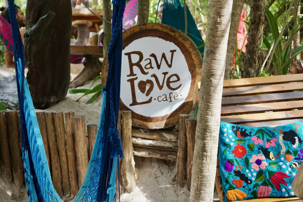 Raw Love (raw vegan cafe, $$) - Literal heaven, this was one of our first food stops after day one of sunning at the beach. Between the two of us, we tried the Shroom Brew, Maki Roll and Chia Pudding. All were fresh and delicious AF. The nice part about this spot is they have a great variety on the menu, plenty of more filling items when hanger sets in or the lighter fare we went for if you're in the mood for a snack between meals. Also, worth noting it's packed with shiny, happy people (I immediately wanted to know all their beauty secrets) and the cutest little hammocks and handmade stools to cozy up. If there weren't so many amazing places to try in Tulum, I'm confident this would have been an every day occurrence.