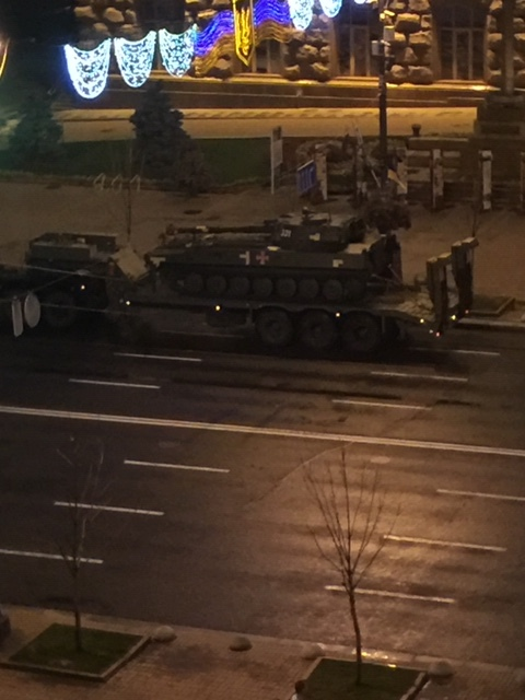 This was just one of an entire caravan of tanks. There were at least 20 of them.
