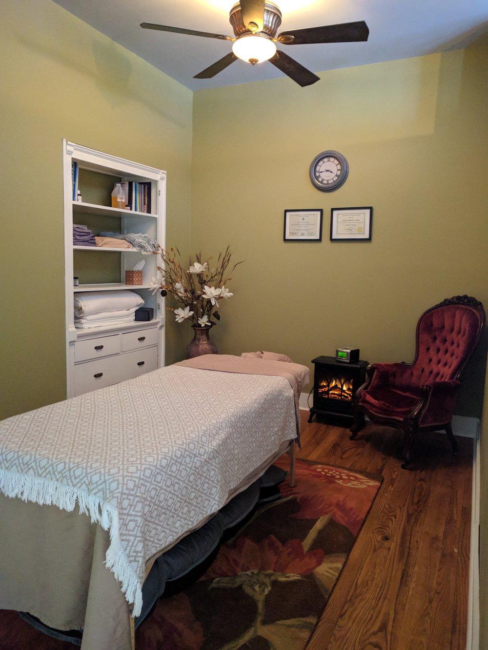 Massage Room at GraceFilled Hands