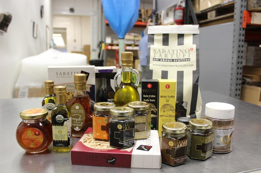 A sampling of Sabatino Tartufi's products