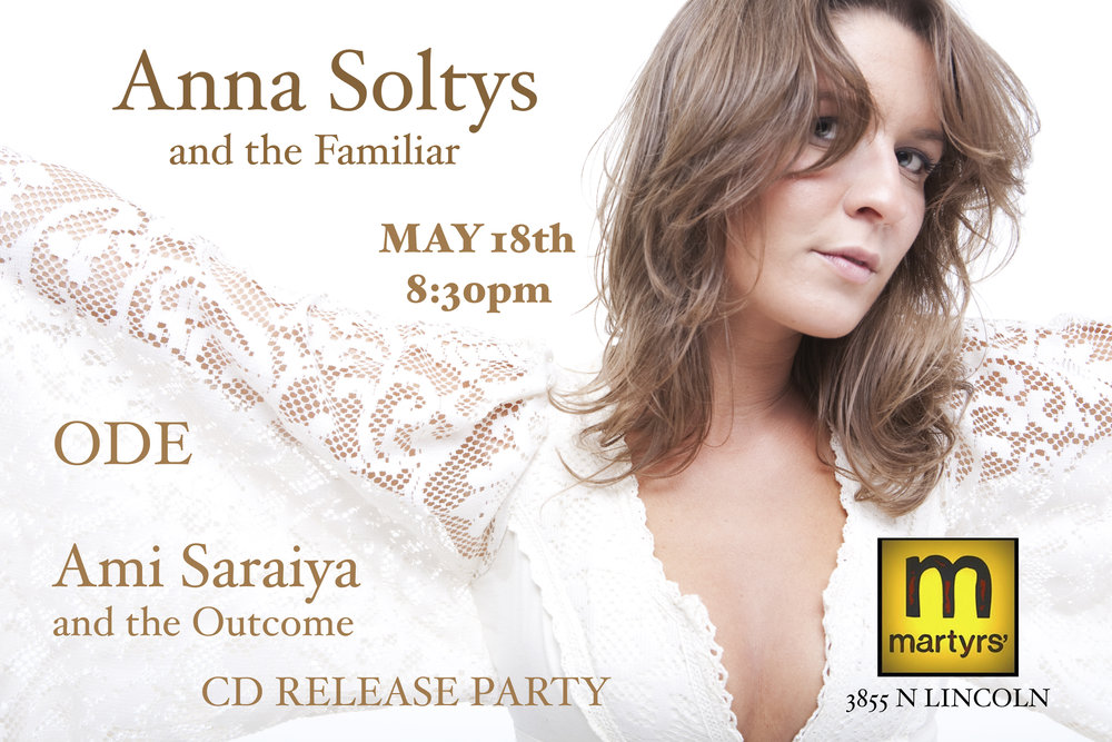 CD Release Party May 18th with Ami Saraiya and ODE!!!