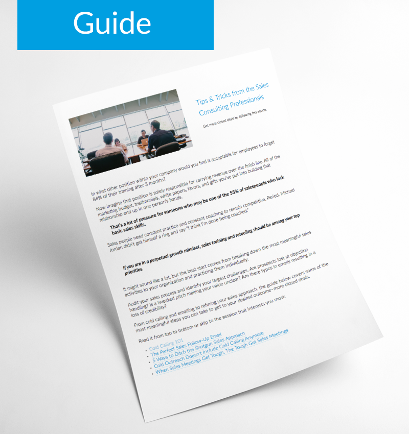 Tips & Tricks from the Sales Consulting Professionals - Guide