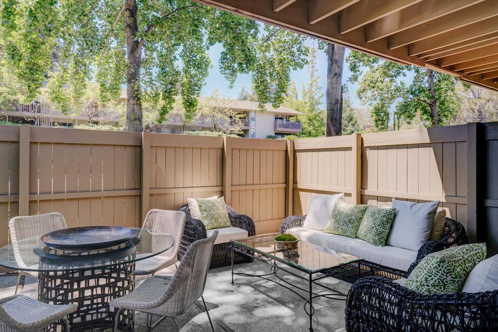 Huge private patios