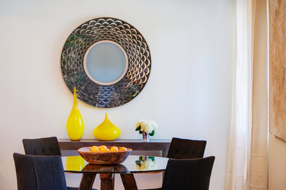 Comfortable dining spaces