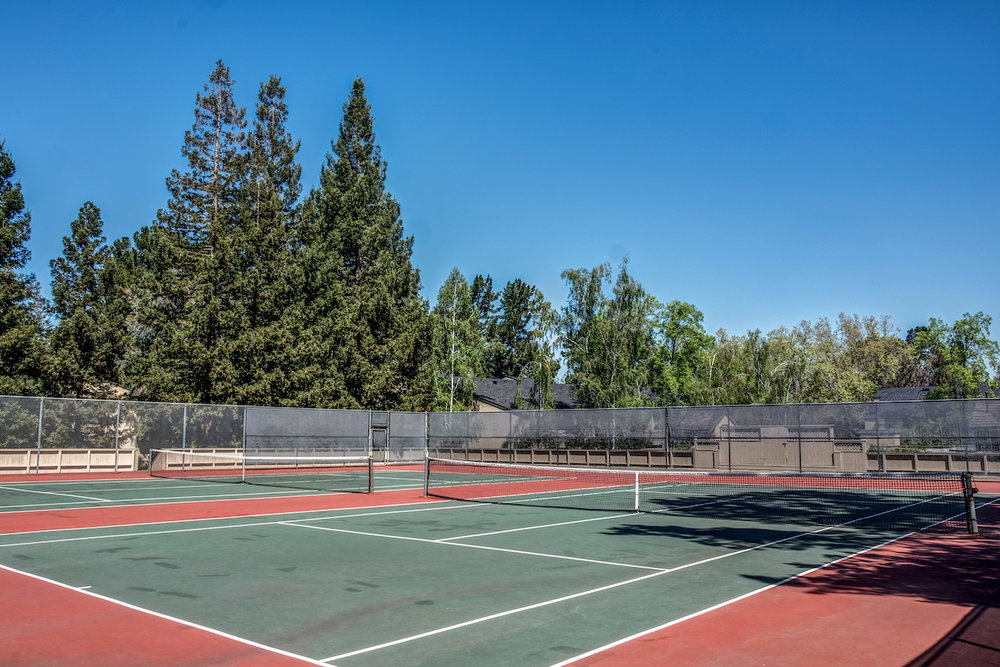 Two tennis courts