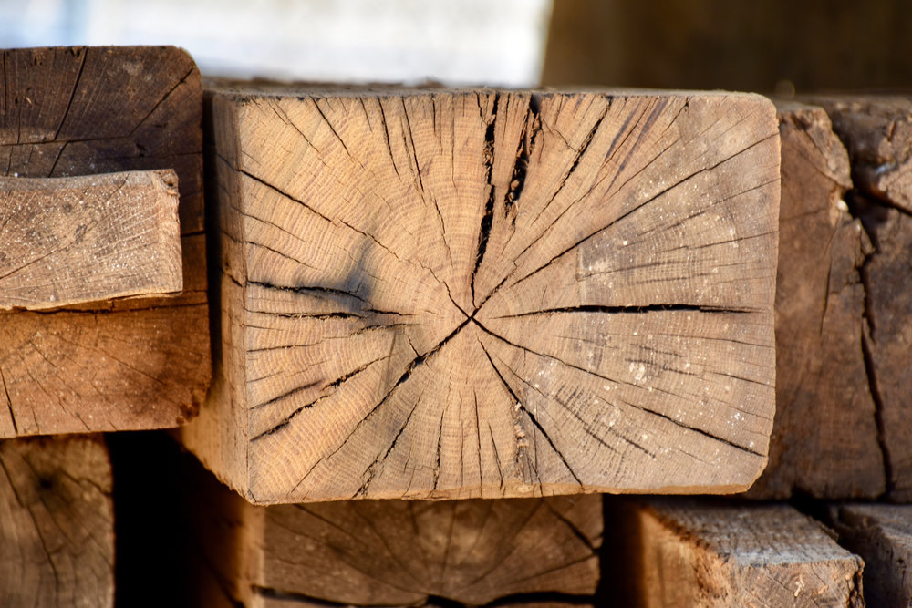 Reclaimed Beams - Available in 6x6, 8x8, 6-20' in lengthAuthentic saw and axe marks, notches, nail holes, and hand-drilled mortise holes. Create a dramatic appearance in your home, office, or retail space!