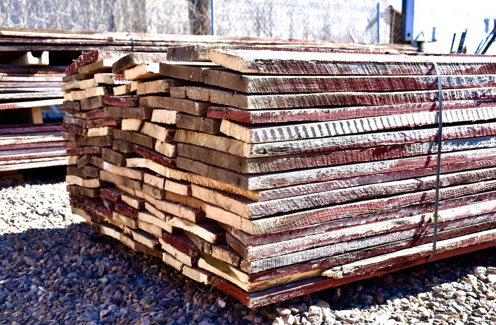 Bundle of reclaimed dimensional barn wood from the Coast to Coast Barnwood yard