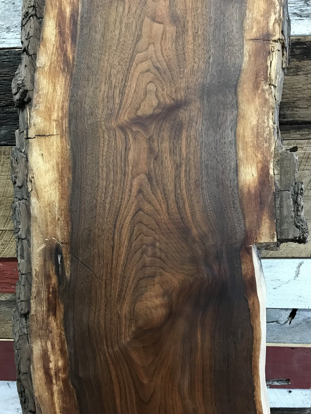 58 inch Black Walnut slab with deep rich color and grain