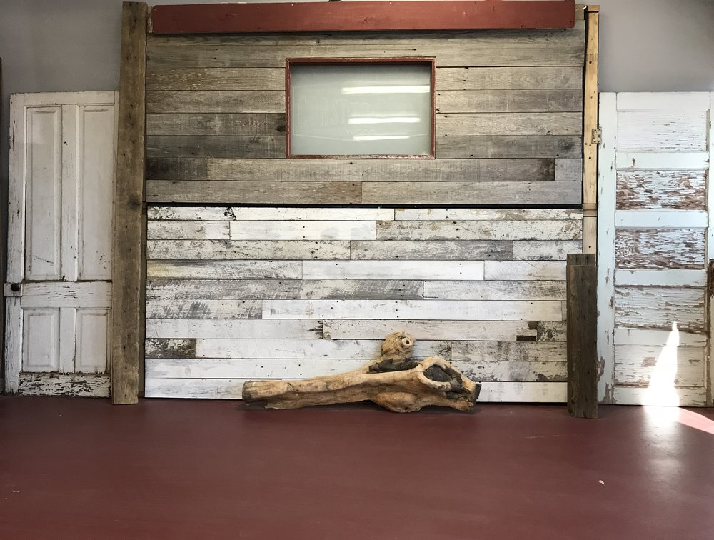 Coast to Coast Barnwood showroom reclaimed barn siding media center