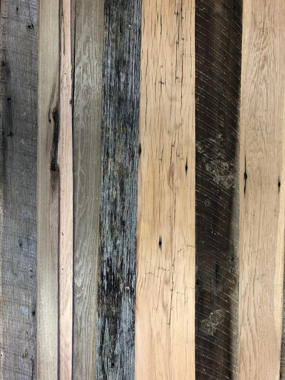 Naturally Weathered Thin Barn Wood Siding In Grays Browns And Blacks