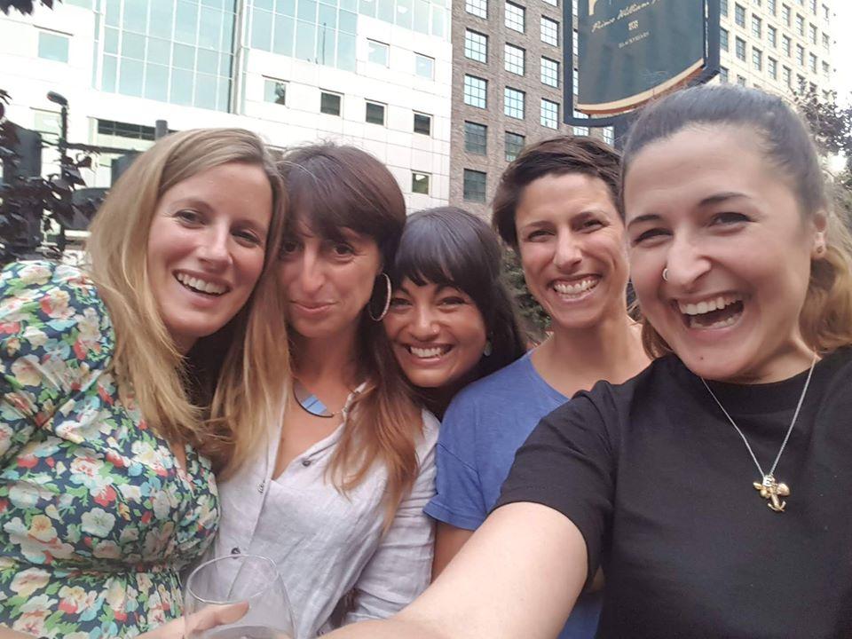 Brooke's HQ vets Laura Skippen, Polly Compston, Shereene Williams, Klara Saville and Ebony Escalona