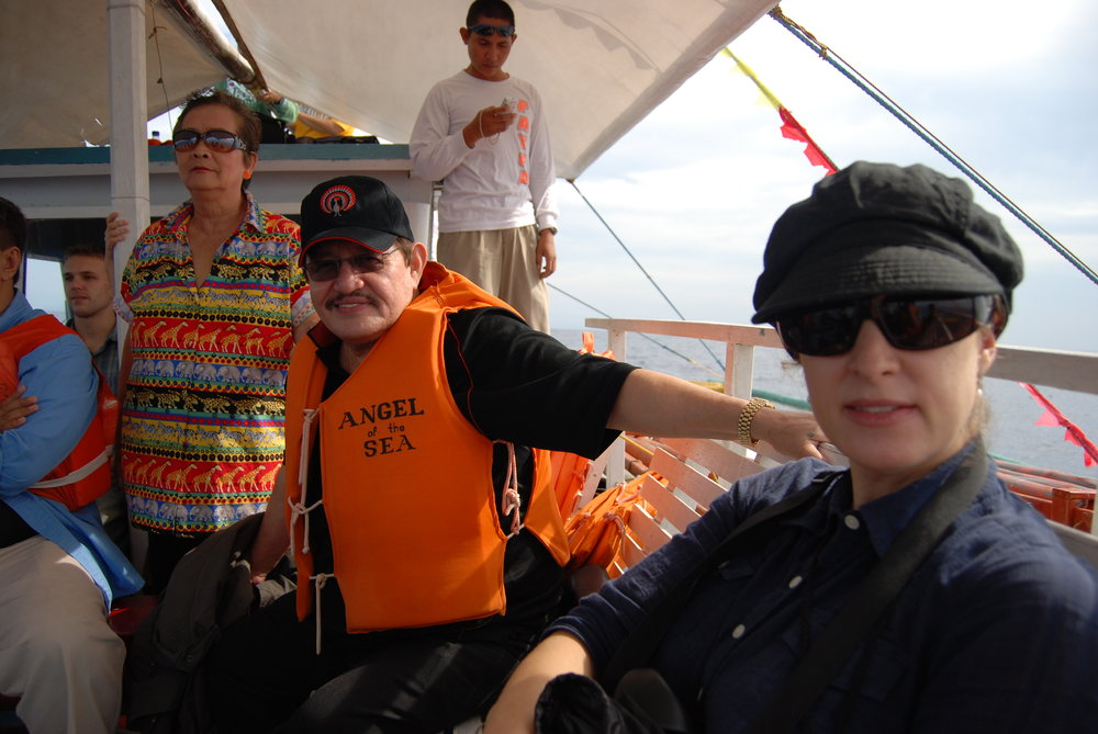 Producer Sigal Bujman on board with Mayor Ed and his wife, Elena