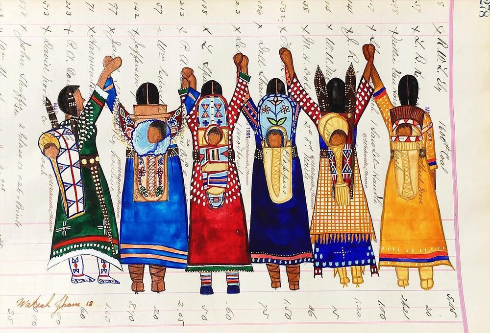 """""""Standing Mothers""""- by  Wakeah Jhane Art"""