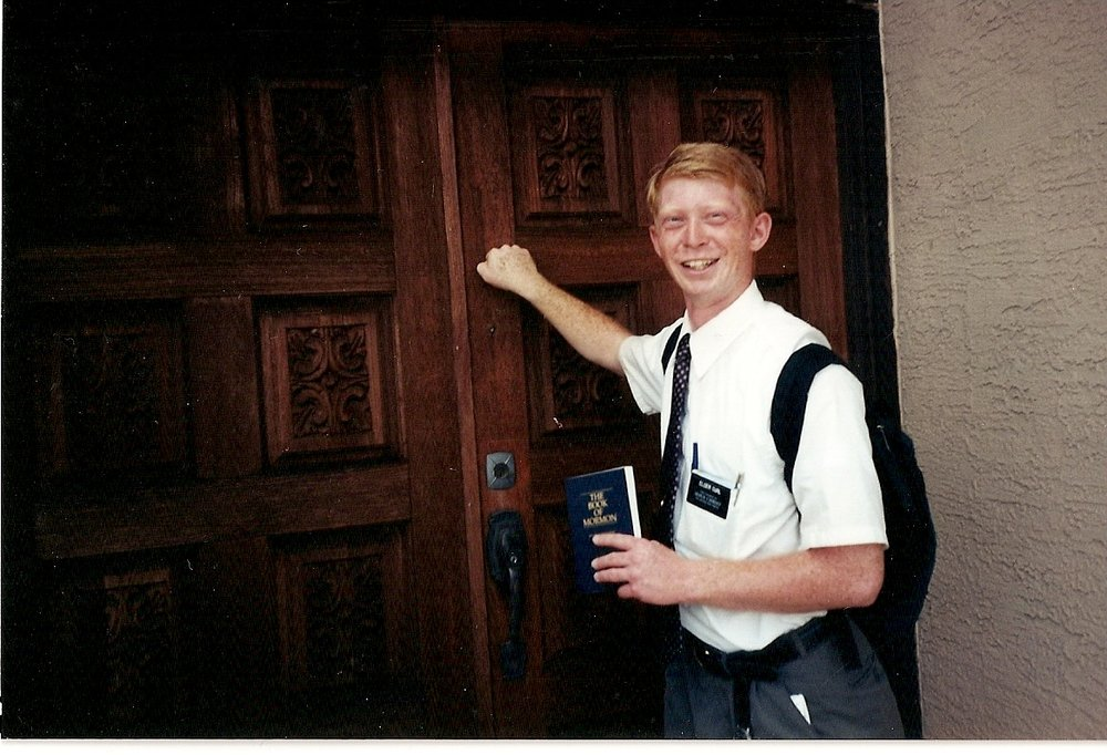 Knocking on doors - The least effective method of finding new converts, yet my mission president insisted we do it at least ten hours per week.