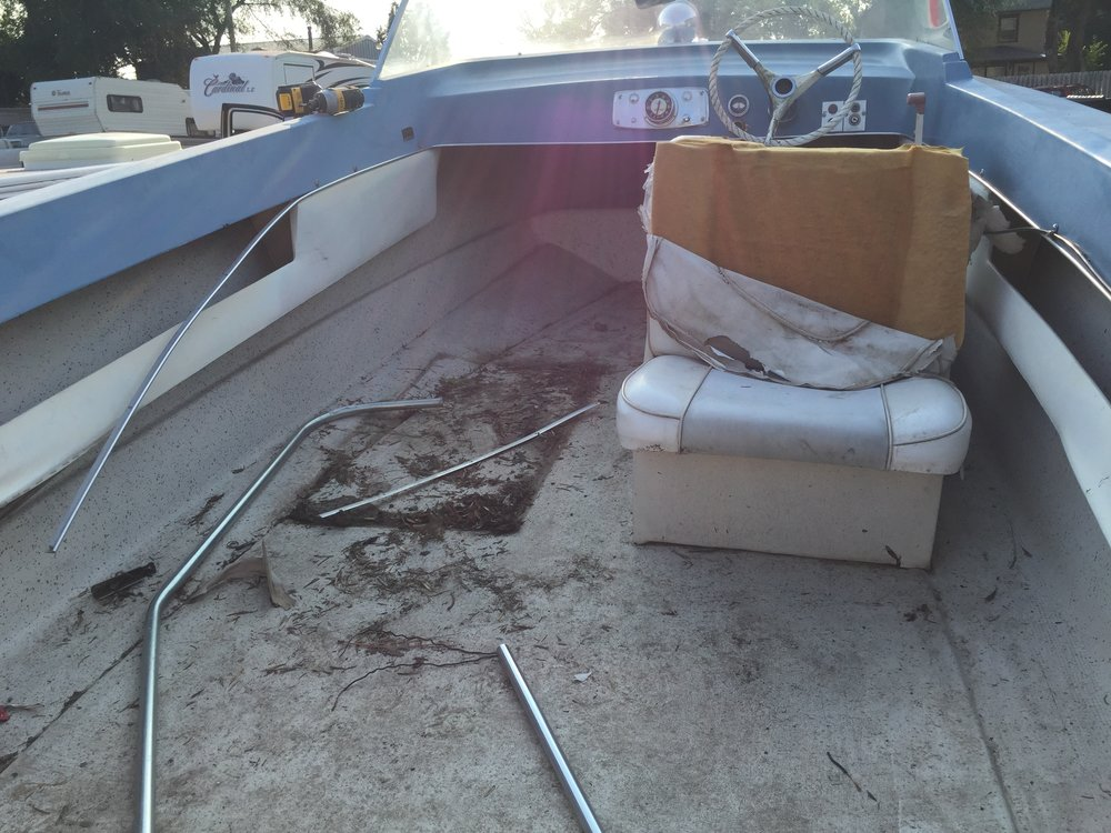 How I found it - This is the condition I purchased the boat in, but I had no intention of leaving it the way it was when I purchased it.