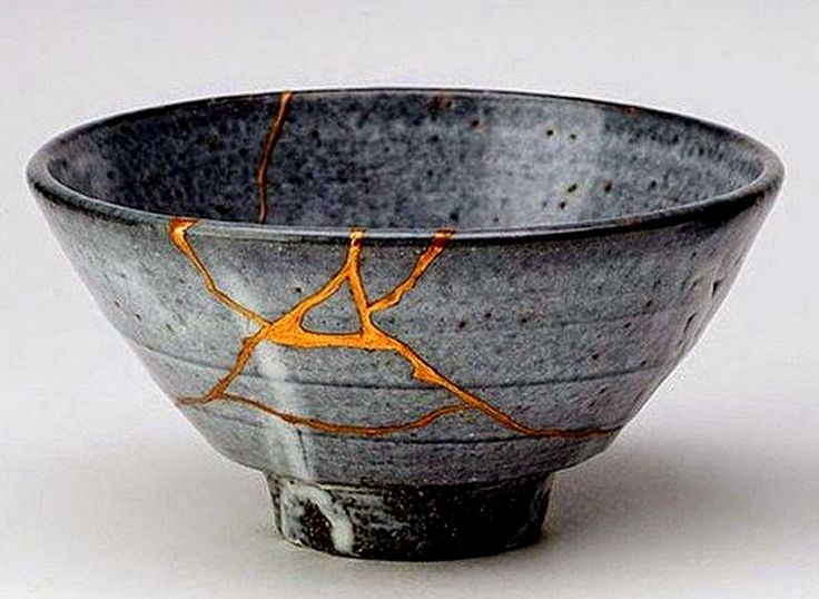 Kintsugi - The process of mending broken things with gold, which makes them more valuable then they were before they were broken.