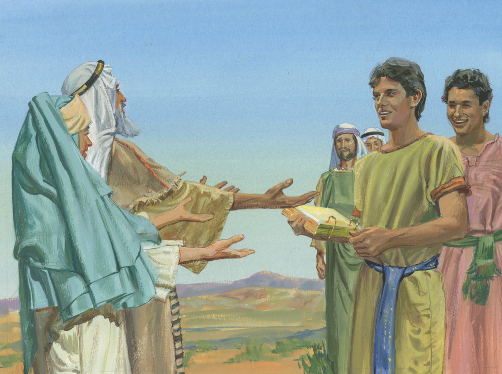 The brass plates - the record Nephi murdered Laban to obtain