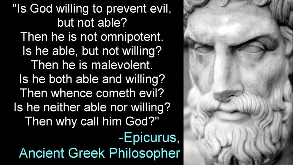 Epicurus 341–270 BC. People have been asking why for thousands of years.