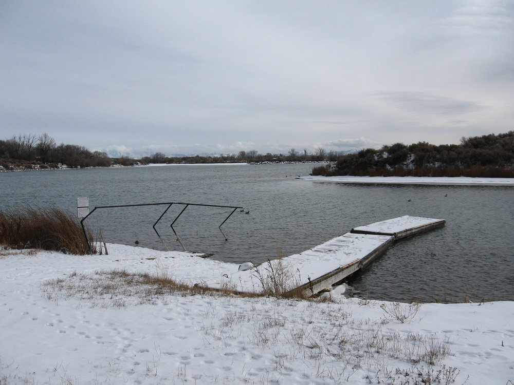 Springfield Reservoir, Springfield, Idaho. Not the lake it happened at, but you get the idea.
