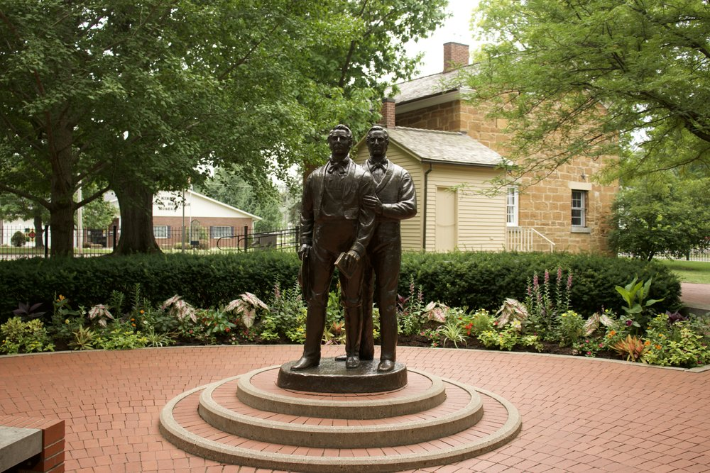 Carthage Jail - Joseph Smith and his brother Hyrim were murdered by a mob while imprisoned and waiting for trial for the destruction of the Nauvoo Expositor and for treason against the state of Illinois. Joseph Smith also had outstanding arrest warrants from the state of Missouri
