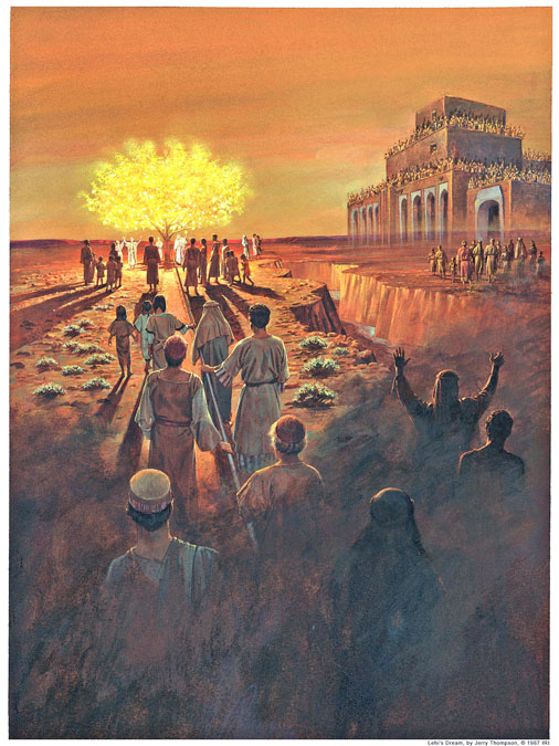 Lehi's vision - As told in the book of ! Nephi in The Book of Mormon