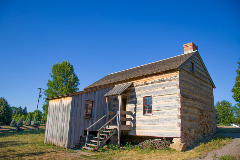 Smith Home - Exact replica of the original home Joseph Smith and his family lived in when he was fourteen