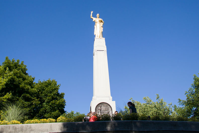 Moroni Monument - Located in the approximate spot where Joseph Smith claimed to have recovered the golden plates.