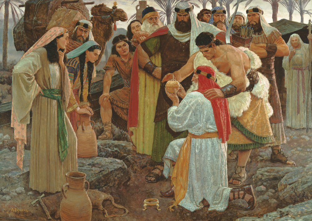 Liahona - The magic brass ball/campus that Lehi and his family used to know where to go. Writing appeared on it occasionally as well to tell them the will of God, but considering the fact that God spoke directly to Nephi, I don't see why it was even necessary.
