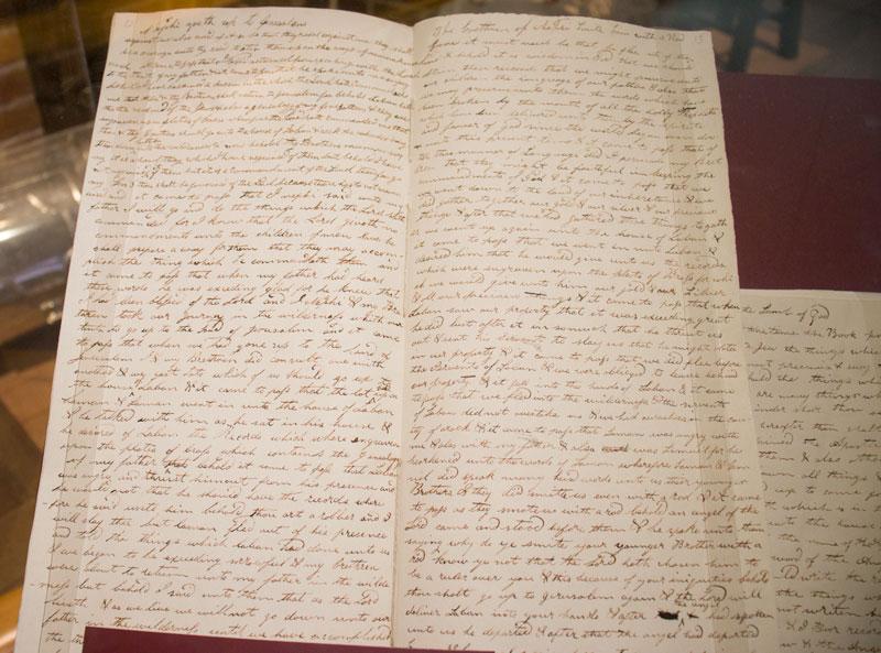 Book of MormonPrinter's Manuscript - E.B. Grandon Print shop, Palmyra, New York