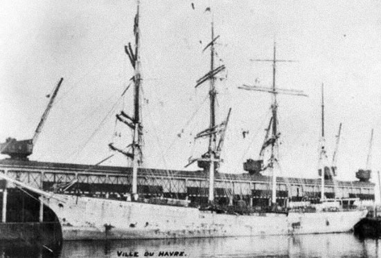 The Ville du Havre - When the ship went down on November 22, 1873 226 people lost their lives, including all four of the Spafford's children.