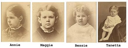 The four Spafford children lost when the Ville du Havre sank.