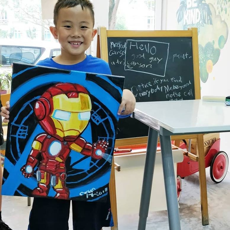 Canvas Painting - Superheroes   Learn the basics of canvas painting as we help you create your favourite superheroes. Understand the different types of brushes, paints and tools used to achieve different textures and effects through developmentally appropriate techniques before bringing home a masterpiece any guardian would be be proud of! - Recommended for ages 3 & up. Fees: $65 (canvas measures 30cm x 40cm) Duration: 3 hours