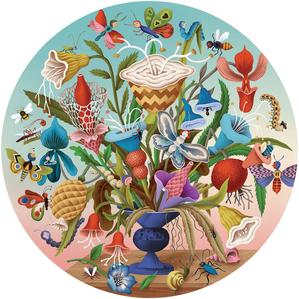 Big Canvas Painting - Whimsical Bouquet   This workshop is a great way to experience painting on a large format canvas (square; measuring 770mm by 770mm).  Create an exotic bouquet of outrageously bold flowers with a menagerie of colourful insects to accompany this fabulous centerpiece. - Recommended for ages 6 & up. Fees: $180 Duration: 9 hours (3 hrs x 3 days)