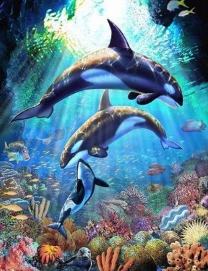 Big Canvas Painting - Underwater Wonderland   This workshop is a great way to experience painting on a large format canvas (measuring 610mm by 920mm).  Explore the wondrous underwater world as we dive deep to take a closer look at the vibrancy of marine life. - Recommended for ages 6 & up. Fees: $180 Duration: 9 hours (3 hrs x 3 days)