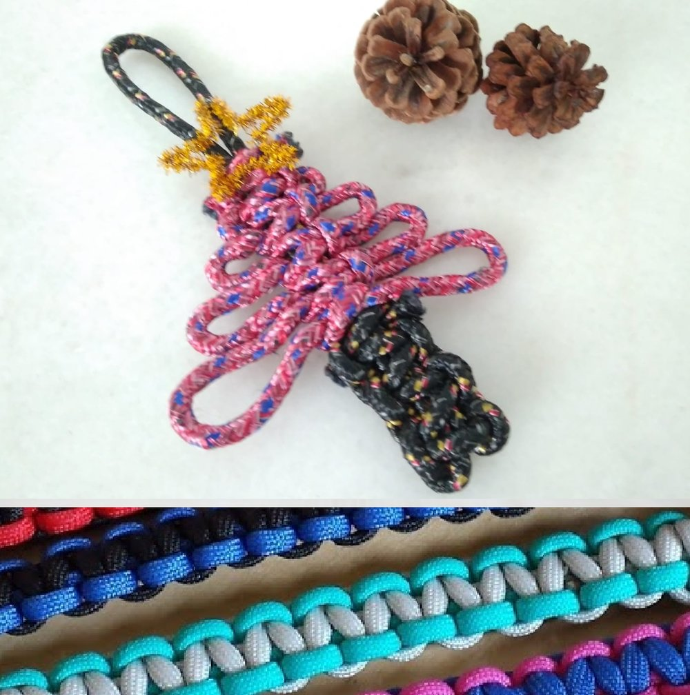 GLOW-IN-THE-DARK KNOTTING  WITH   WEARABLE CRAFT    Dates: 12 Dec (Wed) Time: 9am to 12pm Fees: $55 Take home: Christmas tree ornament and a parachord bracelet  Learn about the magic of knotting, a rich form of art featured in many ancient civilisations. Apart from Chinese, Japanese, Egyptian, Tibetan, Incan and Celtic cultures all have their own unique forms of decorative knots.  This workshop delivers a modern twist to the ancient craft of knotting with easy-to-follow steps provided by the knotting gurus at  Wearable Craft . Using a variety of colourful and glow-in-the-dark chords, learn to make an intricate Christmas tree ornament followed by a parachord bracelet that you can show off.    LEARN MORE