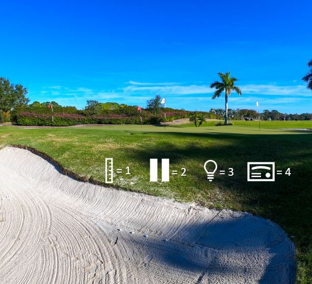 HASSELHOFF - In this game you will hit 4 shots with the only goal of holding the green, access the angles of the shot that will best help you hold the green.Clubs needed: Lob WedgeSwings: 4