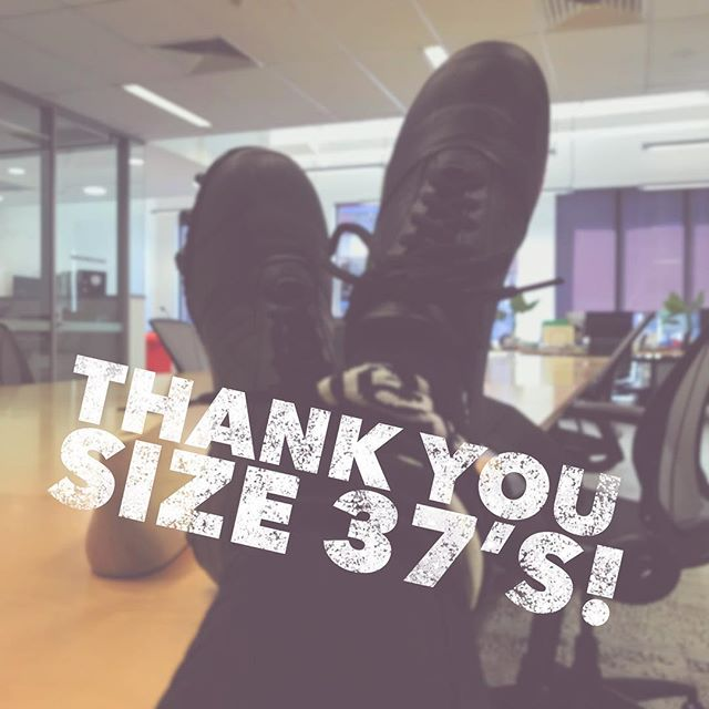 Thanks so much to players (with size 37 feet 👣) from @williamstownfc, @alameinfc, @waverleybluesw, @melbunisc & @uhsvuafc for coming to try on our protoboots. You gave us such great feedback! More size 37's coming soon...and then the other sizes 🙌 #waveofchange #footballbootsaremeanttobecomfy