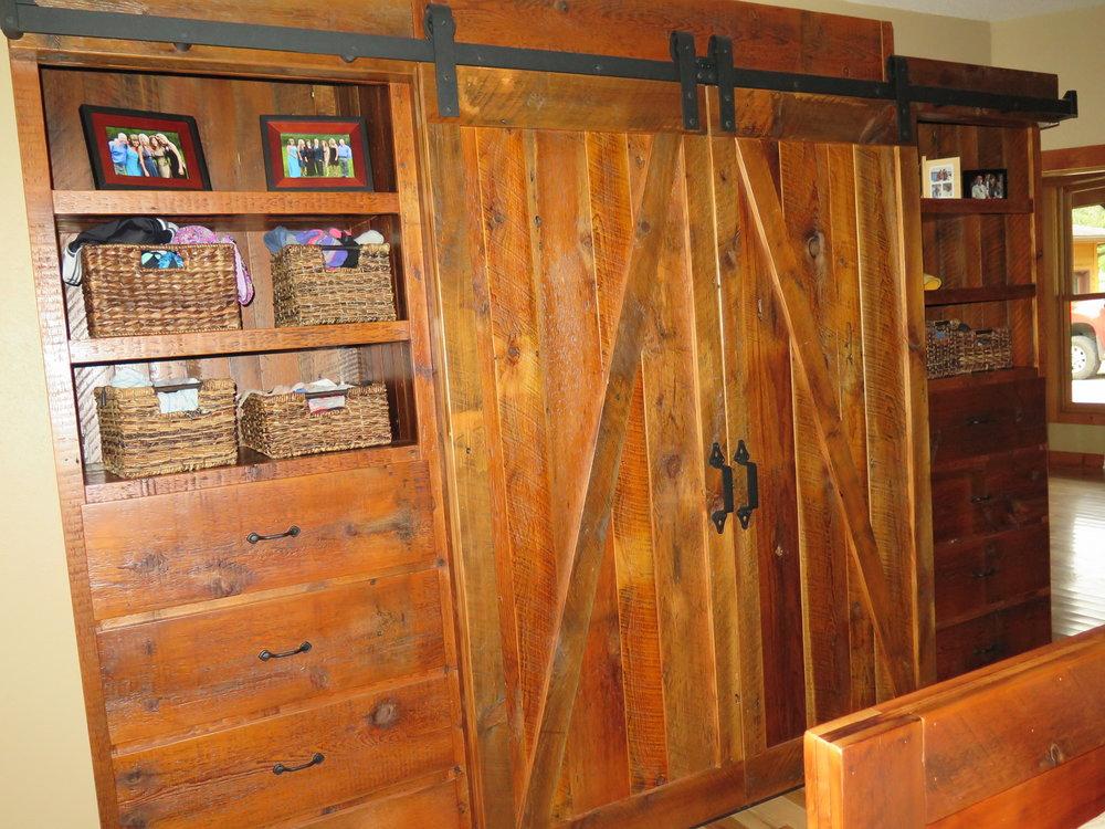 H&L Rustic Reclaim Amish made furniture storage unit