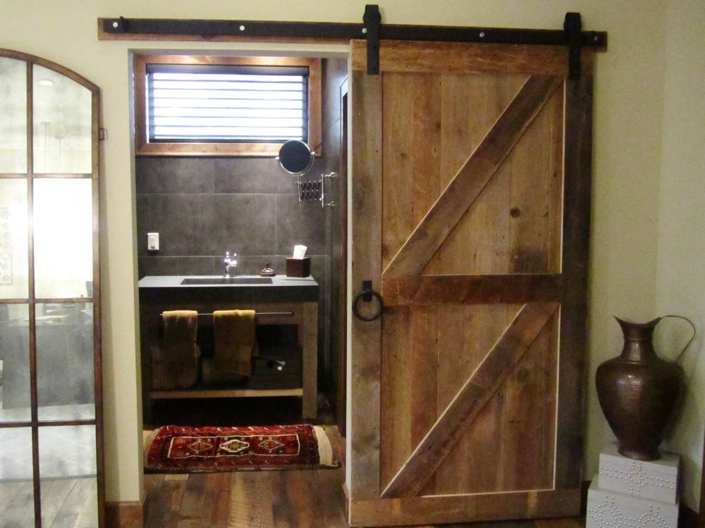 Amish made barn wood door by H&L Rustic Reclaim