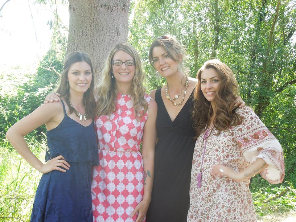 All four of the farmer's daughters together
