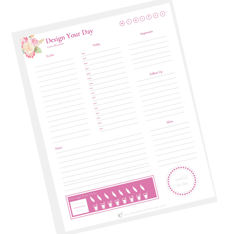 Click to download your free daily planner