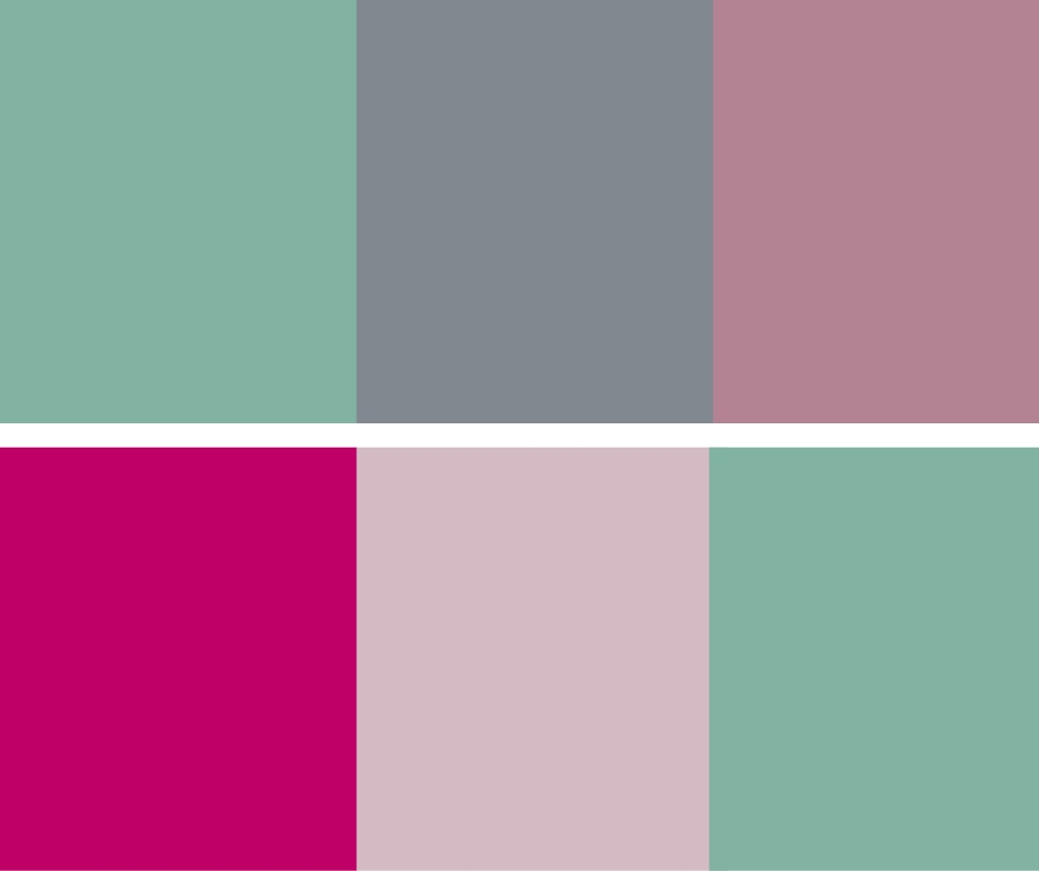Two different colors schemes from my style guide. I use this in different ways for my website, social posts and printables.