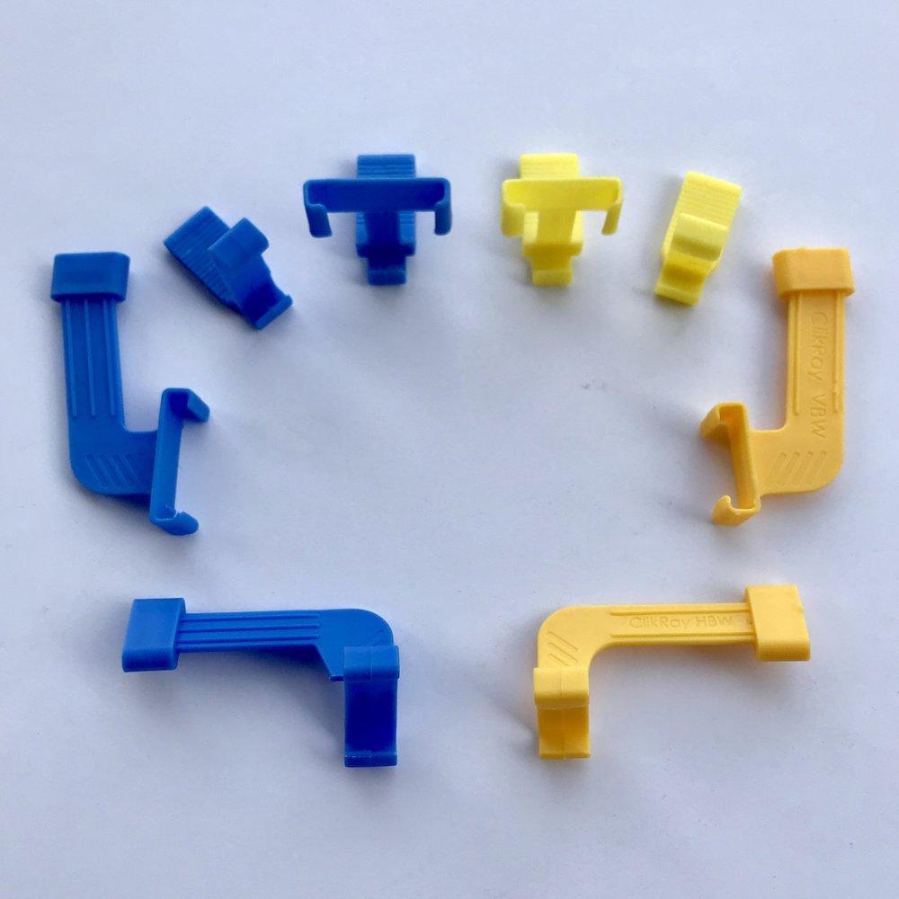 X-Series Biteblocks blue size 2 , yellow size 1.jpg