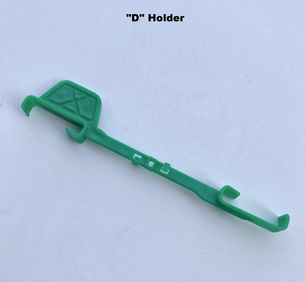 """D"" Holder: Standard horizontal biteplane, non biteplane side"